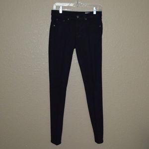 Sz 27 Rag & Bone  Black Legging Skinny Jeans